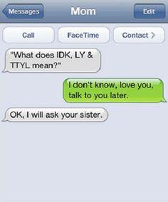 Mom text fail