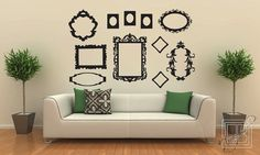 Wall Decal Frames Large Collection - Wall Vinyl - Wall Stickers via Etsy