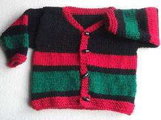 RedBlack & Green Childs Cardigan by ArdSolas on Etsy, £12.00
