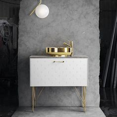 An excellent combo of brass, white and stone. The mixer is BI071 with an extension to perfectly fit the bowl. Thanks @superfront for great inspiration! #brass #bathroom #bathroominspo #bathroomdesign #bathroompic #washbasin #tapwell #superfront