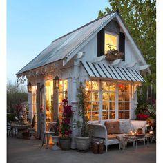 Backyard Sheds, Backyard Retreat, Tiny Backyard House, Backyard Cottage, Shed Design, House Design, Outdoor Rooms, Outdoor Living, Shed Conversion Ideas