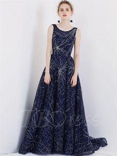 TBDress - TBDress Backless Scoop A-Line Beading Court Train Evening Dress - AdoreWe.com