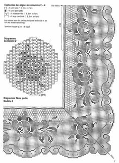 Rose crochet lace diagram...