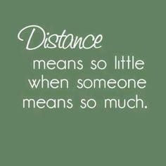 Distance & love