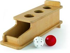 Montessori Roll out imbucare box with 3 holes $138