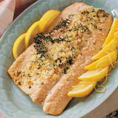 Really good and easy Crusted Salmon.  Used half the butter in the recipe.