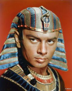 Yul Brynner looked royal in this scene of Cecil B. DeMille's 'The Ten Commandments' made in the USA in 1957. When not filming, Yul Brynner was found being a beach bum at the French resort town of Deauville!