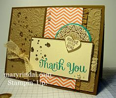 {scrap and stamp with mary}: Happy Day Thank You - Mojo Monday