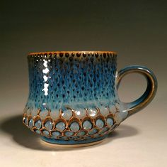 Lyon Clay Studio Honeycomb Blue Spawn Combo Mug