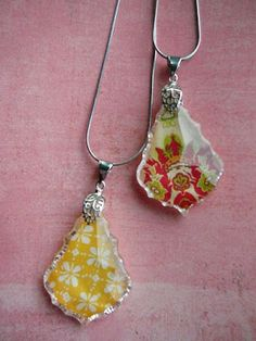 crystal pendant tutorial | Little Birdie Secrets First, pick out a patterned paper that you love, -a crystal pendant or glass tile, use Diamond Glaze/ or Crystal Effects/ or Glossy Accents to glue to back of pendant, ...