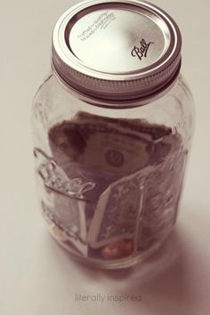 Save leftover change from grocery budget each week and use money to donate food every quarter. See how in this post.
