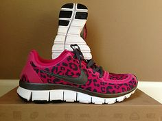 Womens-NIKE-FREE-5-0-V4-Leopard-Animal-Fireberry-Pink-Running-Shoe      I want!!!!!