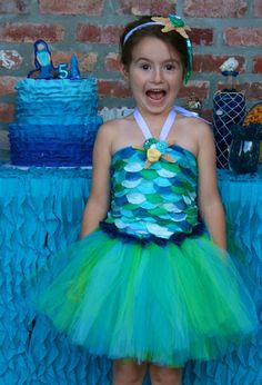 Mermaid Birthday Party - Maybe Auntie Anne will wear her mermaid prom dress to the party!