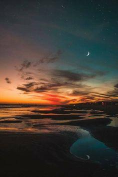 Sunrise & moon