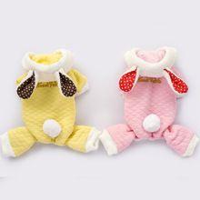 Outono e inverno roupas de algodão calças pequeno médio pet coelho rosa cão…