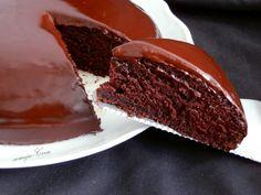 Bizcocho de Chocolate Sin Huevo y Sin leche, con Ganache