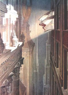 Vol de Nuit (Print) art by Francois Schuiten Archive Art Nouveau, Art Deco, Comic Book Artists, Comic Artist, Bd Comics, Art Graphique, Poster Size Prints, Fantasy Art, Concept Art