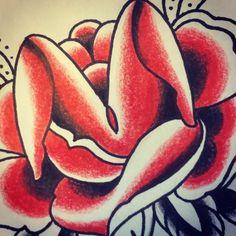 «Rose et Mr l'insecte «#drawing #flashtattoo #flashworkers #eroticart #rad_trad_tattoo #CBaron #tradworkers #flowertattoo #rose