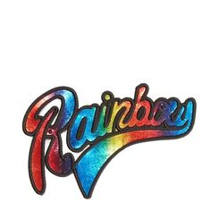 Women's Marc Jacobs Embroidered Patch (€24) ❤ liked on Polyvore featuring jewelry, rainbow foil, 80s jewelry, marc jacobs jewelry, marc jacobs, rainbow jewelry and retro jewelry