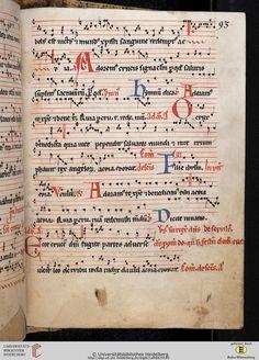 Antiphonarium Cisterciense Salem, um 1200 Cod. Sal. X,6b  Folio 93r