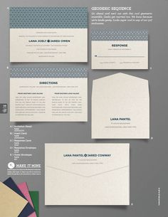"""Geodesic Sequence"" Wedding Invitation From Envelopments"