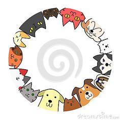 Cercle de chiens et chats avec espace copie - Cercle de chiens et chats avec espace copie - Painted Ceramic Plates, Ceramic Painting, Ceramic Art, Pottery Painting Designs, Paint Designs, Porcelain Pens, Sketch Manga, Mandala, Marker Crafts