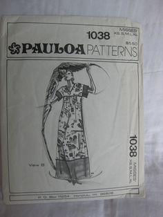 Vintage Hawaiian MuuMuu Dress Pattern. Pauloa 1038  $8.00, via Etsy.
