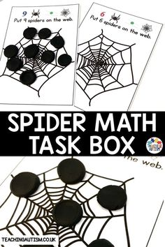 Are You Looking For Hands-On Task Boxes To Use With Your Autism And Special Education Students? Do You Want Your Students To Work On Their Counting And Math Skills? Assuming this is the case, This Spider Task Box Activity Is Perfect. Autism Teaching, Autism Activities, Hands On Activities, Classroom Activities, Sorting Activities, Autism Classroom, Classroom Setup, Work Task, Math Work