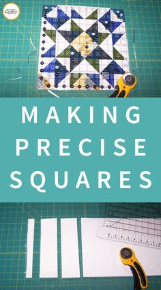 Learn amazing tips and techniques for quilt piecing that are most accurate and efficient for creating the most common units used in quilting. Quilting Rulers, Quilting Tips, Quilting Tutorials, Hand Quilting, Machine Quilting, Quilting Projects, Quilting Designs, Sewing Projects, Sewing Tips