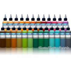 Intenze Tattoo Ink 25 Color Set 1 oz bottle - High Quality, 214.99 | 214.99 | This set includes: Dark Chocolate, Medium Brown, Bright Orange, Bamboo, Flesh, Sunburn, Cherry Bomb, Lollipop, Sienna, Flesh Pot, Fuschia, Koolaid, Gr... Check more at http://www.amazon.com/dp/B00CE5IZQ0/?tag=milliondol050