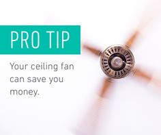 Have your ceiling fan rotate clockwise at a low speed. That way it pushes warm air down and away from high ceilings. Simple Diy, Easy Diy, American Day, Best Home Security System, Home Safes, High Ceilings, Furniture Styles, Saving Tips, That Way