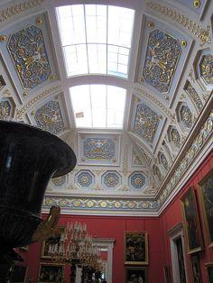 Ornate ceiling, Hermitage Museum