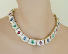 KENNETH J LANE Rhinestone Collar Necklace