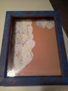 Shadow box of our trips around the world!