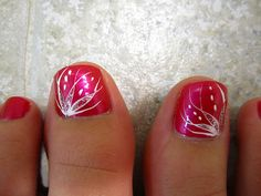 69 Ideas For French Pedicure Designs Toenails Style Pretty Toe Nails, Cute Toe Nails, Fancy Nails, Diy Nails, Pretty Toes, Pedicure Nail Art, Toe Nail Art, Hot Pink Pedicure, Nail Nail