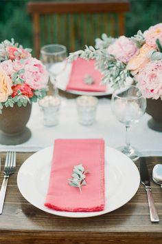 peach wedding ideas #weddingdecor http://www.weddingchicks.com/2013/11/20/austin-wedding-venue/