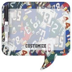 Shop Football Jersey Pattern Dry Eraser Board created by BlueRose_Design. Bubble Style, Dry Erase Board, Message Board, Football Jerseys, Colorful Backgrounds, I Shop, Bubbles, Boards, Messages