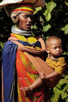 Bonda motherhood. Orissa, India