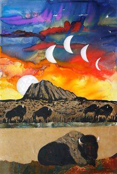 Buffalo Moon by an unknown artist of the Lakota Tribe