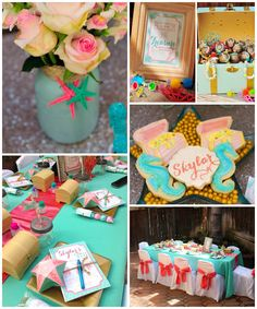 Mermaid themed birthday party with SO MANY REALLY CUTE IDEAS via Kara's Party Ideas | Cake, decorating tips, cupcakes, favors, printables, and MORE! #mermaidparty #undertheseaparty #oceanparty #girlpartyideas #partydecor #partystyling #eventplanning (2)