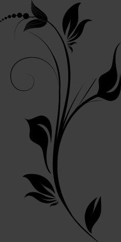 Vinilo decorativo flores 58