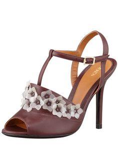 Anemone+T-Strap+Jelly-Flower+Sandal+by+Fendi+at+Bergdorf+Goodman.