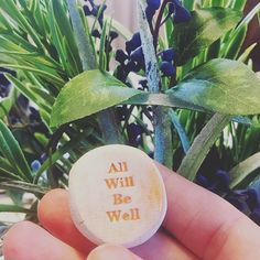 A little worry stone that I picked up from a beach town the other day. I bought a handful of these little gems with presents in mind, but I'm keeping this one for myself. The message is one I'd like to sink into... #positiveaffirmations #wordstoliveby #alliswell