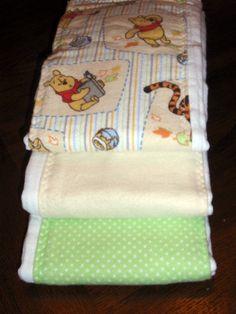 Winnie the Pooh Burp Cloth Set. $13.95, via Etsy.