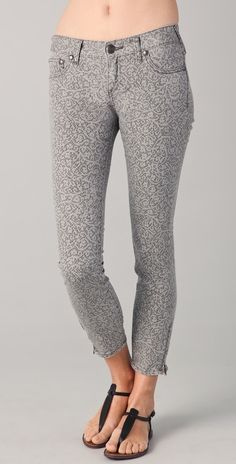 Free People Millennium Lacey Cropped Skinny Jeans thestylecure.com