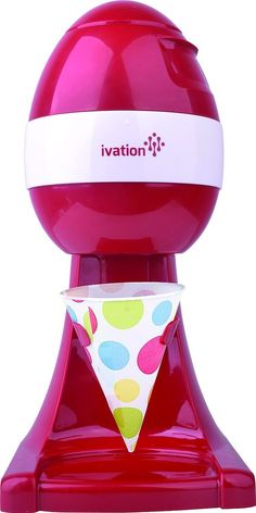 Ivation Electric Ice Shaver, Snow Cone Maker, Shaved Ice Machine, Ice Snow Shaver, Ice Crusher (Red) -- Check out the image by visiting the link. Specialty Appliances, Kitchen Appliances, Small Appliances, Chemical And Physical Changes, Nugget Ice Maker, Ice Shavers, Snow Cones, Popcorn Maker, Cool Kitchens