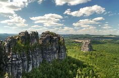 Places to See Before You Die -  Elbe Sandstone Mountains near Dresden,Germany