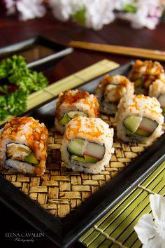 Sushi Rolls, Uramaki, food photography
