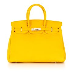 Classic Caty Yellow Stampatto Leather- Spring 2016 Collection! Rich color spectrum perfect for spring!