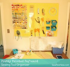 Pretty Up Your Pegboard with Paint! - SewFearless.com